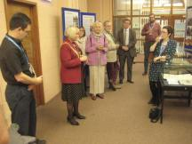 Lord Mayor launching the Archives exhibition.